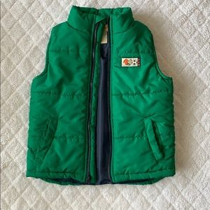 Green puffy vest boys 4T
